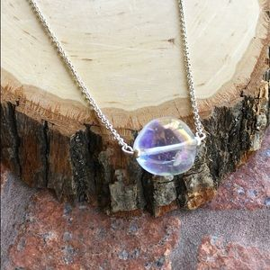 Genuine Aura crystal quartz healing stone necklace